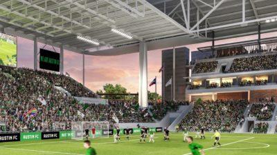 Rendering of the new Austin FC stadium