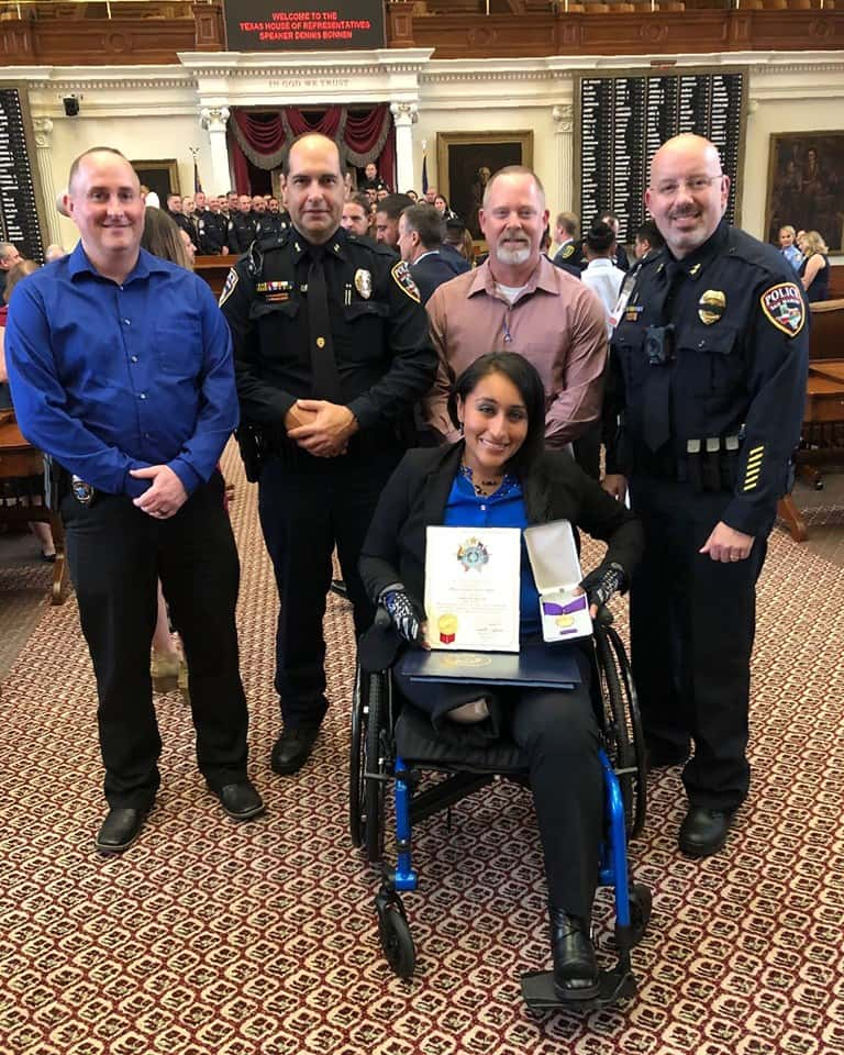 Police officer Claudia Cormier honored at the State Capitol