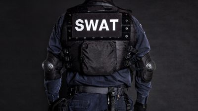 Officer in SWAT vest