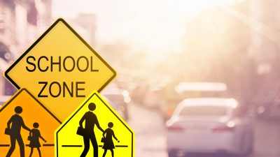 Depiction of a school zone
