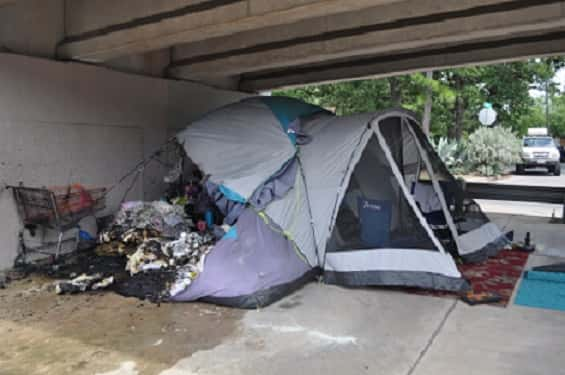APD investigating who set a homeless couple's tent on fire