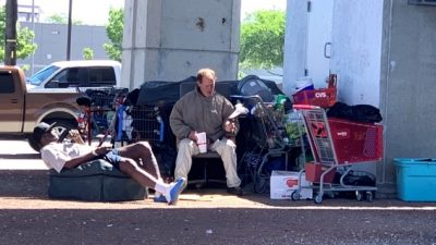Homeless camp near 183 and Ohlen Road