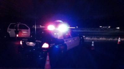 AUSTIN POLICE CAR WITH LIGHTS FLASHING