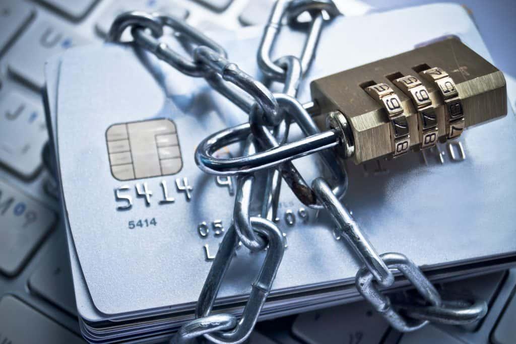 credit cards under lock