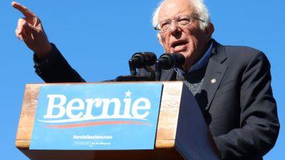 Bernie Sanders campaigns for President