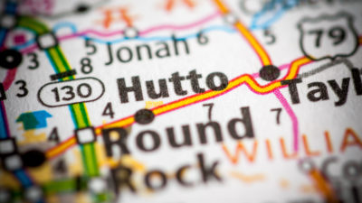 Map of Hutto