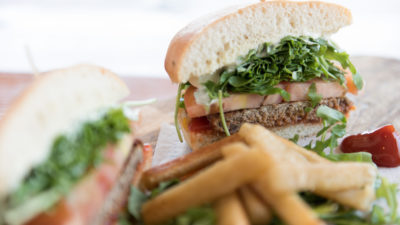 impossible burger. meat free. vegetables.