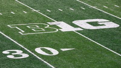 Big 10 logo on Football Field