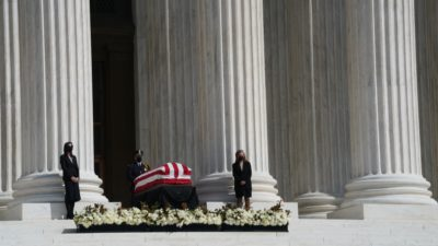 Mourners Pay Respects To Justice Ruth Bader Ginsburg At U.S. Supreme Court