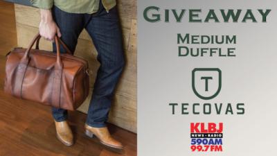 Giveaway Medium Duffle Tecovas on KLBJ AM contest