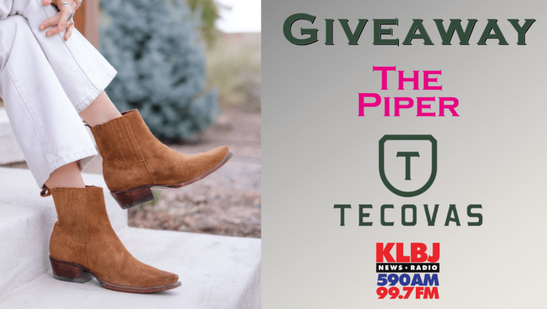 Giveaway The Piper boots Tecovas on KLBJ AM contest