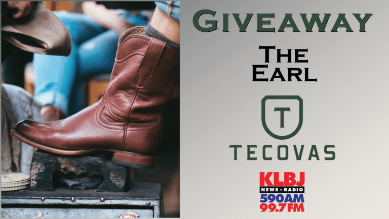 Giveaway The Earl boots Tecovas on KLBJ AM contest