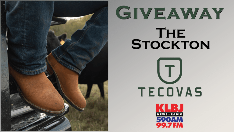 Giveaway The Stockton boots Tecovas on KLBJ AM contest
