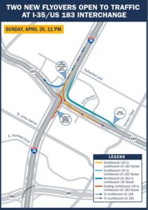 Southbound Flyover Closure Map