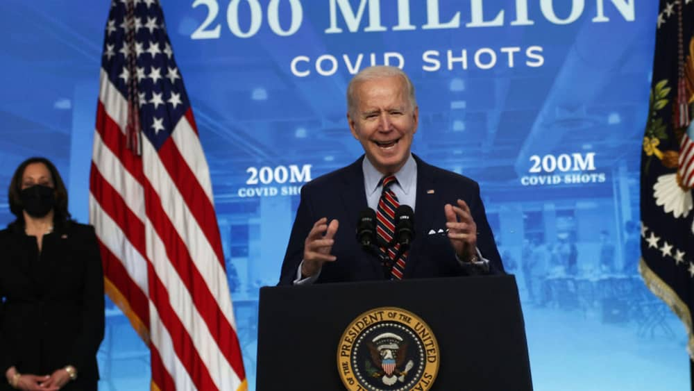 President Biden aims for 70% of American adults vaccinated by July 4