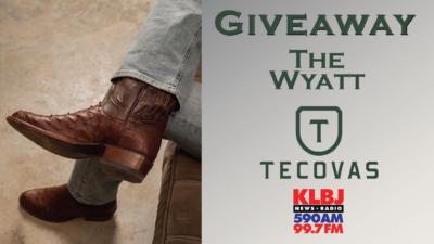 Tecovas and KLBJam giveaway boot wyatt