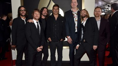 Foo Fighters and Nirvana members at the Grammy Awards