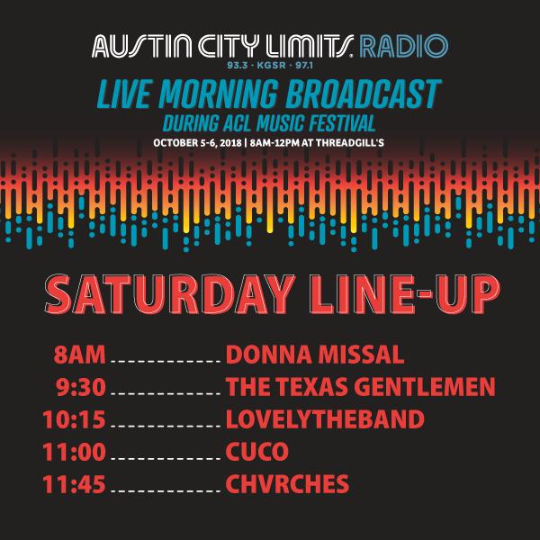 ACL Radio Schedule