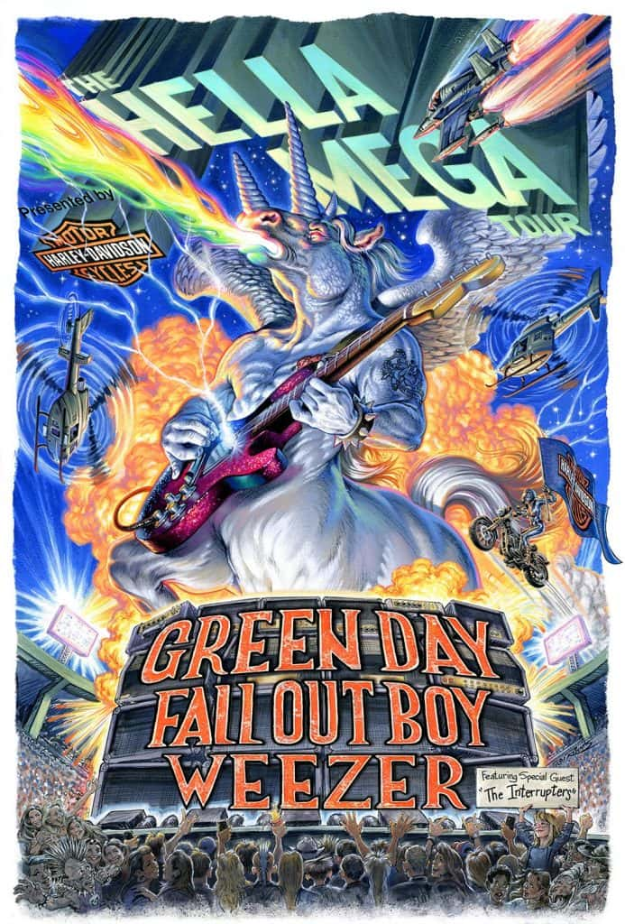 Green Day, Fall Out Boy, Weezer, The Hella Mega Tour