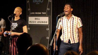 Leon Bridges in the Dell Music Lounge