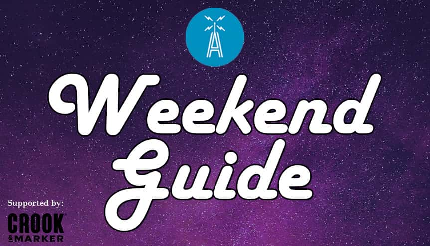 weekend guide supported by crook and marker