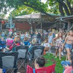 Unplugged at the Grove with Israel Nash: crowd on the lawn