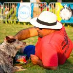 Blues on the Green May 22nd, 2019: person petting dog