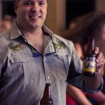 Israel Nash in the Dell Music Lounge 7/26: Dell Music Lounge guest with Alaskan Brewing Co. beer