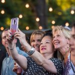KGSR: Fans posing for a selfie