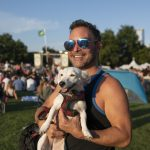 Blues on the Green July 17th, 2019: man and dog posing