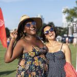Blues on the Green July 17th, 2019: Two girls posing