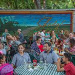 Unplugged at the Grove with Israel Nash: People eating at Shady Grove