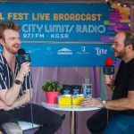 Backstage at Austin City Limits Music Festival: Finneas backstage at acl fest