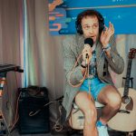 Backstage at Austin City Limits Music Festival: Wrabel backstage at acl fest