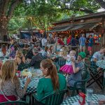 Unplugged at the Grove with Israel Nash: People eating at tables