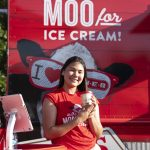 Blues on the Green July 17th, 2019: Girl holding ice cream