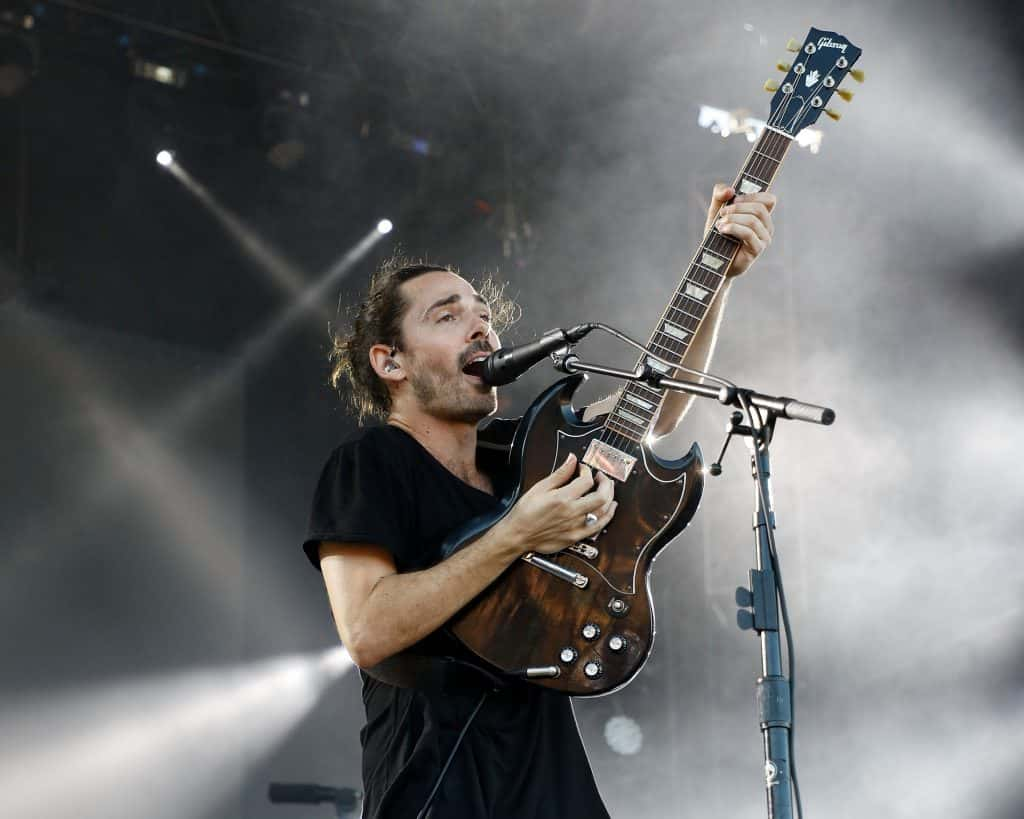 Local Natives Singer Onstage