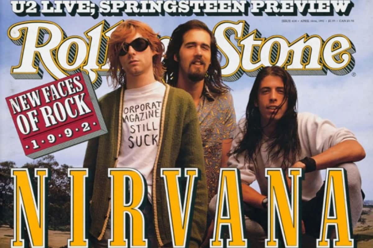 rolling stone cover with nirvana