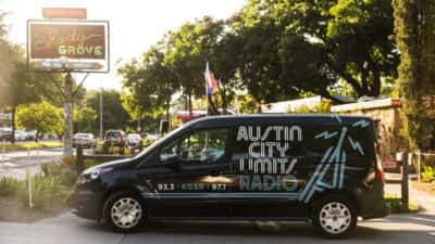 Unplugged at the Grove with ACL Radio vehicle