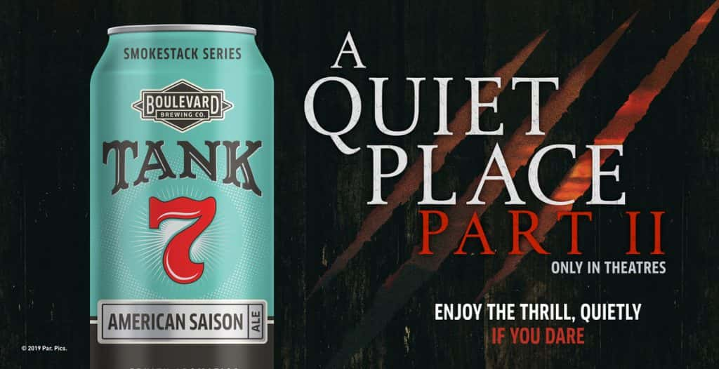A Quiet Place Part II Boulevard Brewing Company, Enjoy the Thrill Quietly