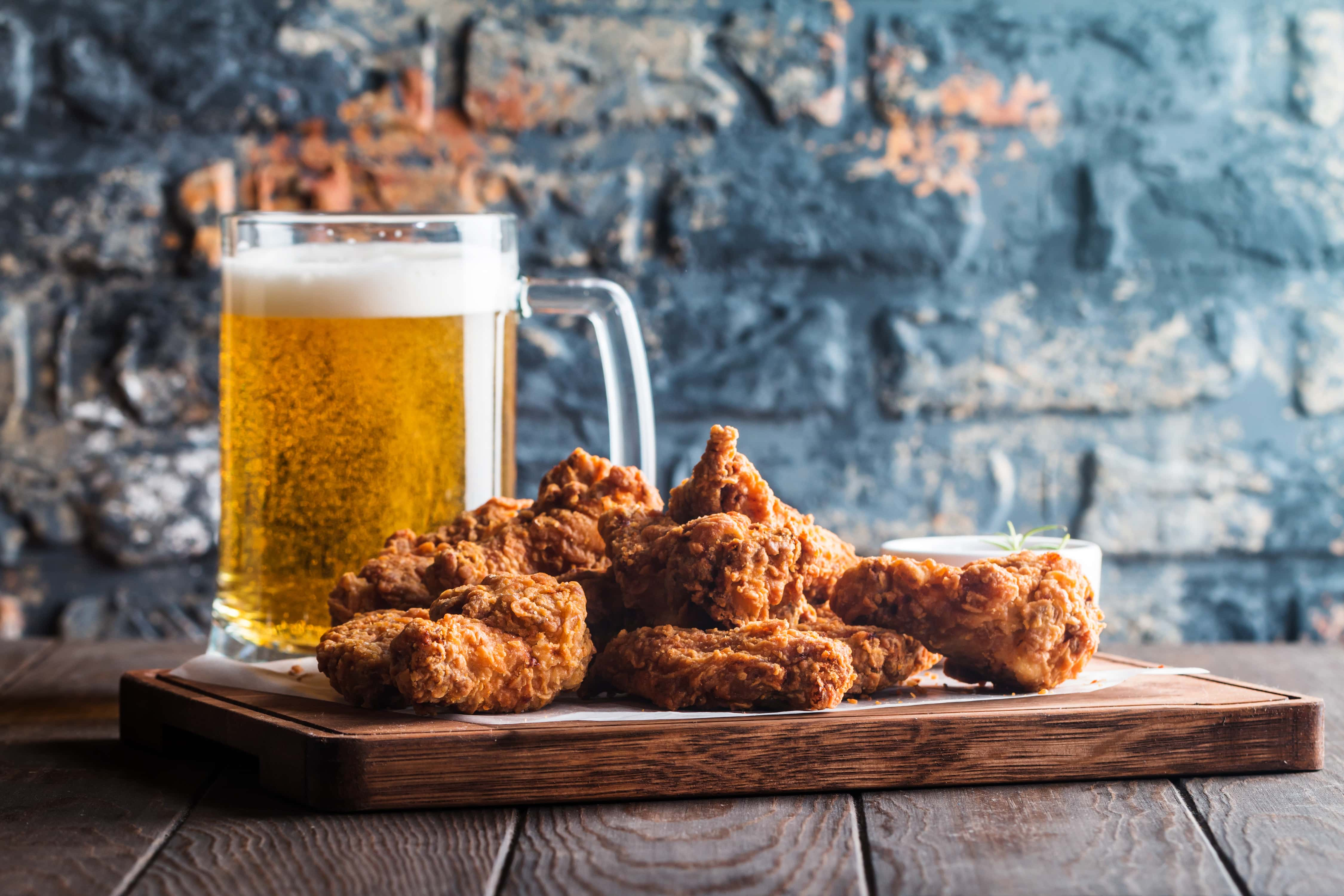 beer and chicken