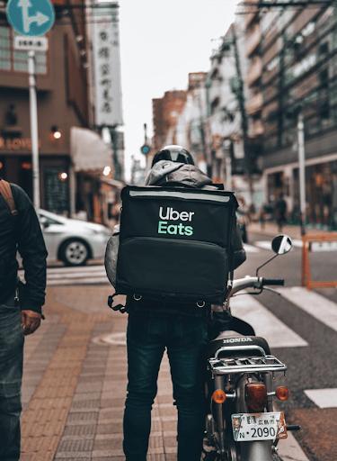 uber eats bicyclist