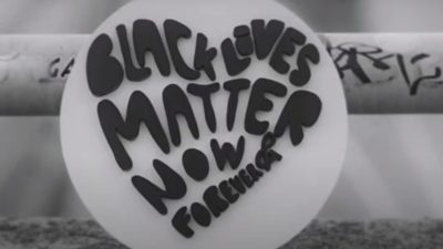 black lives matter now and forever sign
