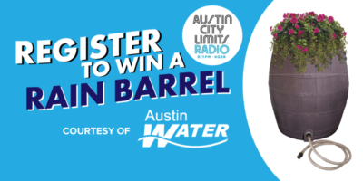 Register to win a rain barrel, courtesy of Austin Water
