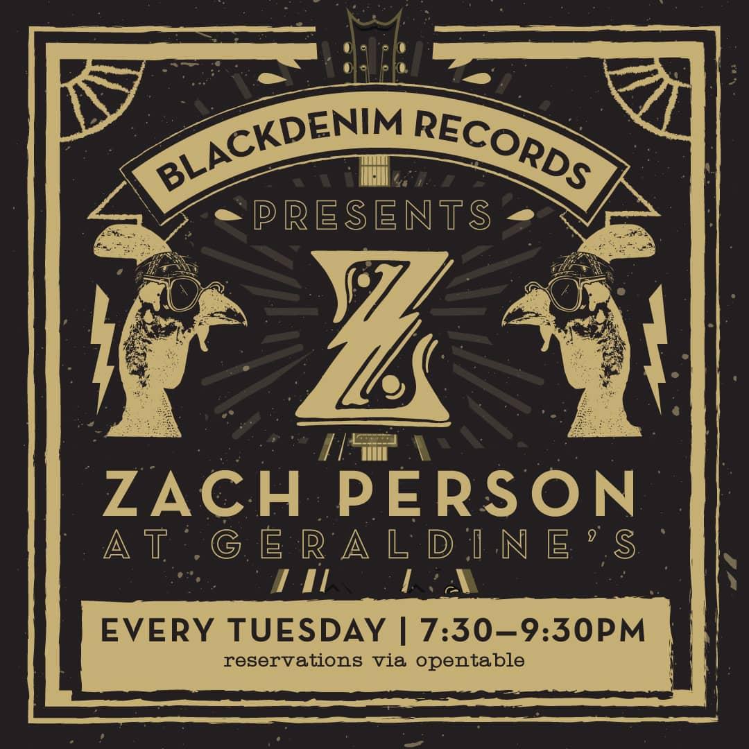 Zach Person at Geraldine's