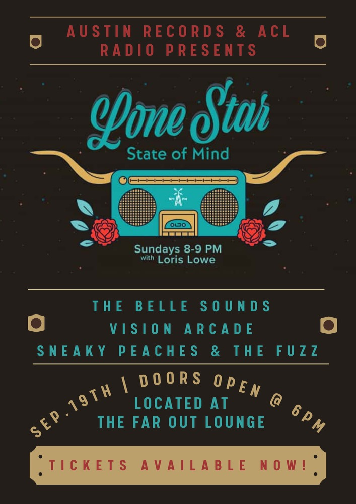 Lone Star State of Mind Show September 19th at the Far Out Lounge