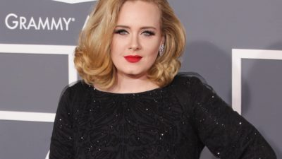 """Adele arrives for the """"Kong Skull Island"""" Los Angeles Premiere on February 12, 2012 in Los Angeles, CA"""