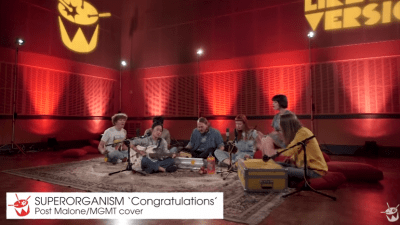 Watch as Superorganism Performs a Mash Up of Post Malone's & MGMT's 'Congratulations'