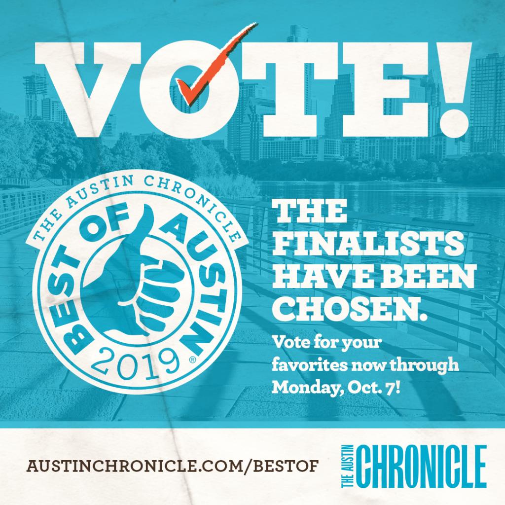 Austin Chronicle Finalist!