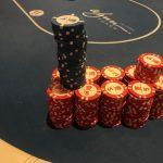 Jason's Vegas Vacation: Jason's chip stack at the Wynn casino.